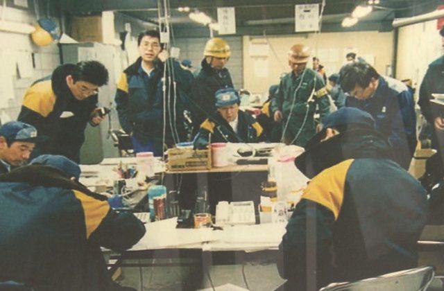 関西電力で阪神淡路大震災パネル展 電気復旧までの状況を伝える