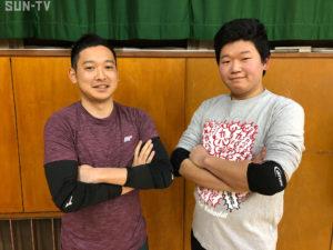 山内進太郎さん(左)と笠牟田亮輔さん(右)