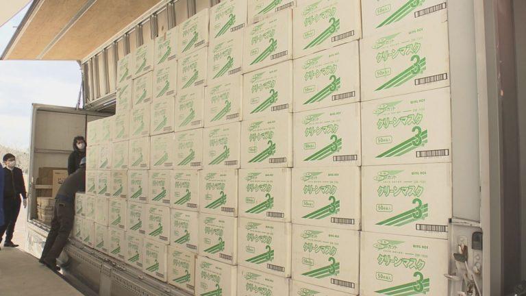 新型コロナウイルスの感染拡大受け 県が中国にマスク100万枚発送
