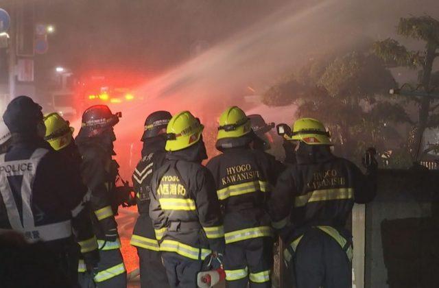 川西市の住宅で火事 男性1人死亡