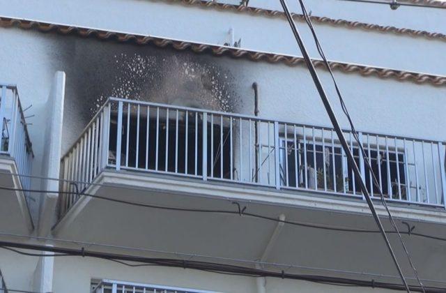神戸市灘区の集合住宅で火事 住民の女性が緊急搬送