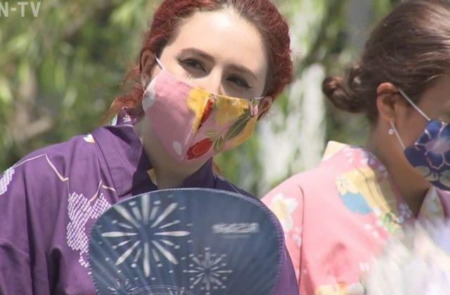 浴衣に似合うマスクが完成 城崎温泉に活気を取り戻す